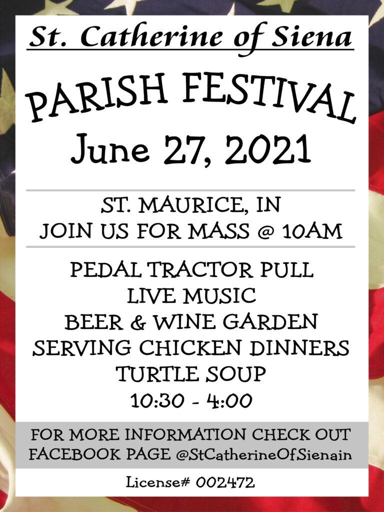 Parish Festival Poster
